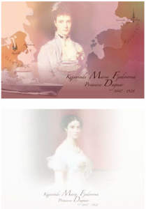 Commemorative post cards commemorating the reburial of Empress Maria Feodorovna